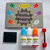 Caratest Professional Gold & Silver Testing Kit - Tester Solution, Miniature File, Magnet, Testing Stone & Full Colour Instruction Booklet