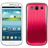 kwmobile® Akku-Deckel aus gebürsteten Aluminium für das Samsung Galaxy S3 i9300 / S3 Neo i9301, Rot