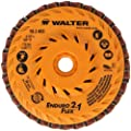 "Walter Enduro-Flex 2 In 1 Abrasive Flap Disc, Type 29, 5/8""-11 Thread Size, Plastic Backing, Aluminum Oxide, 4-1/2"" Diameter (Pack of 10)"