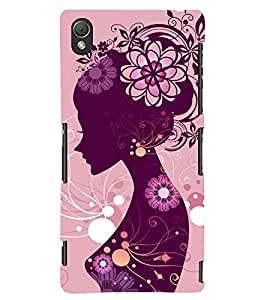 TOUCHNER (TN) Shy Girl Back Case Cover for Sony Xperia Z3::Sony Xperia Z3 D6653 D6603