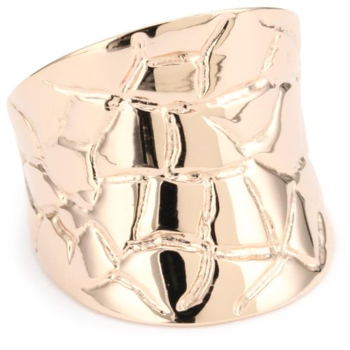 GALA by Daniela Swaebe Crocodile Rose Gold Concave Ring Size 8