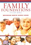 echange, troc  - The Family Foundations Study Bible: New King James Version, Bringing Gods's Word Home Burgundy Bonded Leather