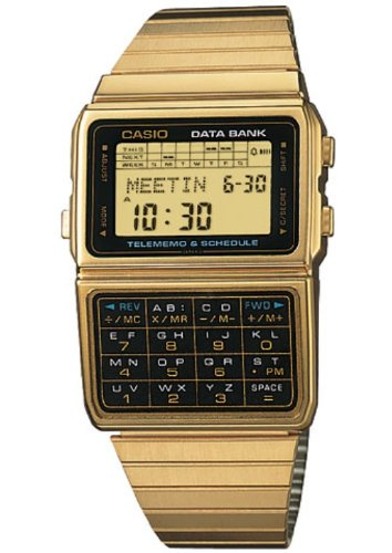 Casio Retro Data Bank Watch - Gold