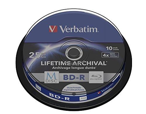 Verbatim (43825) : M-DISC BD-R 4x 10-pack : Blu-Ray Optical Media
