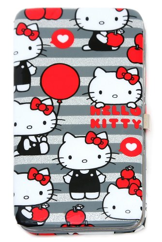 Hello Kitty Grey Glitter Hinge Wallet
