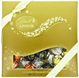 Lindt LINDOR Assorted Chocolate Truffle Holiday Sampler Box, 7.6 oz.