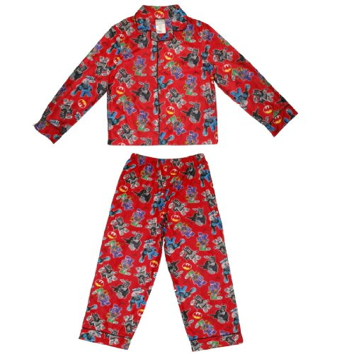 2 PCS SET: Boys Or Girls Batman Fleece Sleepwear Pajama Top & Pants Set