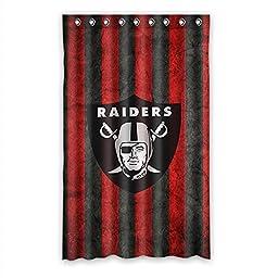Custom NFL Team Oakland Raiders Blackout Curtain Polyester For Bedroom 52\