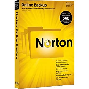 Norton Online Backup 2.0 5GB En 1U Clamshell