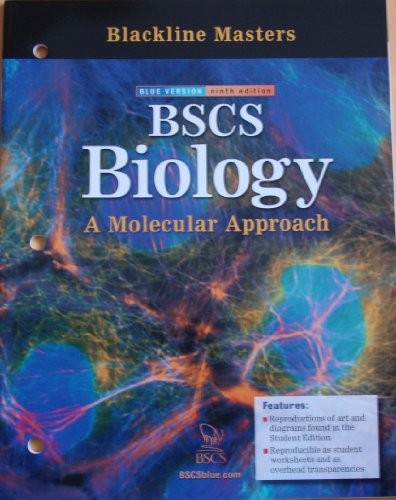Blackline Masters for BSCS Biology: A Molecular Approach (Blue Version, Ninth Edition)