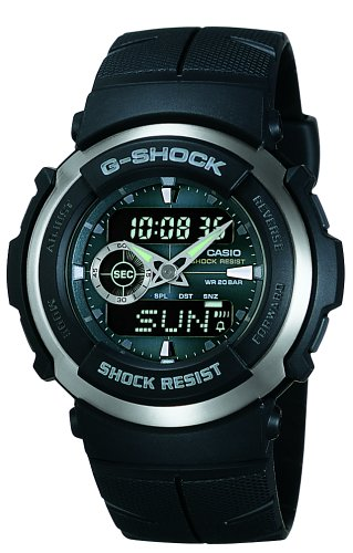 Casio Mens+G-Shock+Ana-Digi+Black Street Rider Watch #G300-3AV