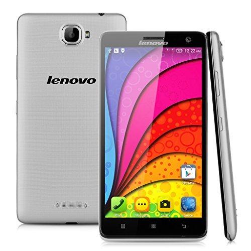 Lenovo S856 5,5'' Zoll 4G-SmartPhone Quad Core Simlockfrei Dual SIM Kapazitive Touchscreen GPS Bluetooth Handy ohne Vertrag 1GB+8GB Silber