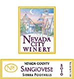 2010 Nevada City Winery Sierra Foothills Sangiovese 750 mL