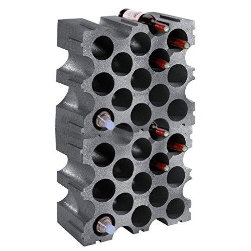 Weinregal-Flaschenregal-STONE-Kunststoff-2er-Set-fr-30-Flaschen-stabelbar-erweiterbar-H-86-x-B-50-x-T-26-cm