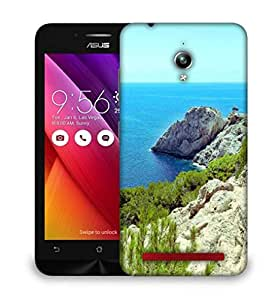 Snoogg White Mountain With Grass Designer Protective Phone Back Case Cover For Asus Zenfone GO