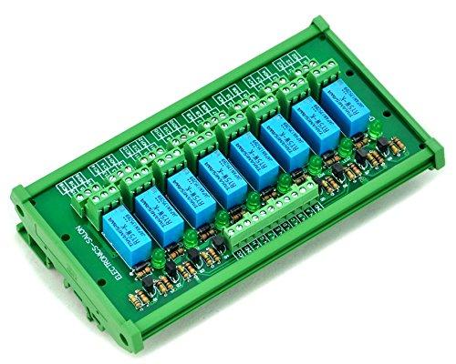 Electronics-Salon Din Rail Mount 8 Dpdt Signal Relay Interface Module, Dc5V Version.