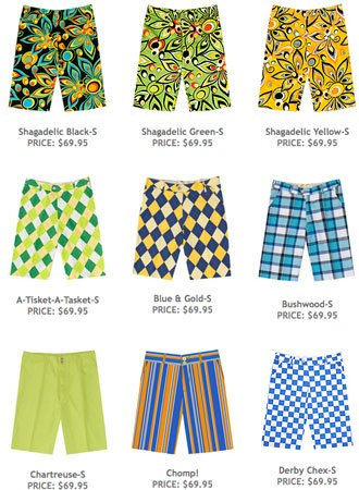 Loudmouth Golf Shorts Loud Mouth Stripes
