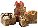 Broadway Basketeers Gourmet Mini Gift Tower of Sweets for Mothers Day
