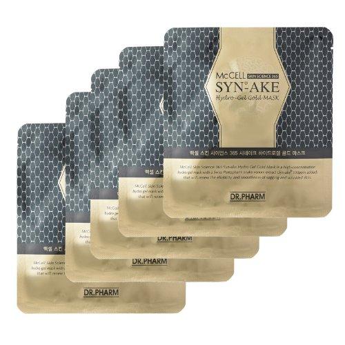 Dr.Pharm マクセルスキンサイエンス365シンエイクゴールドハイドロゲルゴールドマスクセット McCELL Synake gold hydro gel mask 5