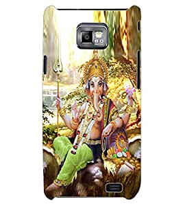 ColourCraft Lord Ganesha Design Back Case Cover for SAMSUNG GALAXY S2 I9100