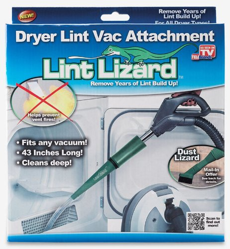 As Seen On TV 6057-12 Lint Lizard Flexible Vacuum Hose (Clothes Dryer Lint compare prices)