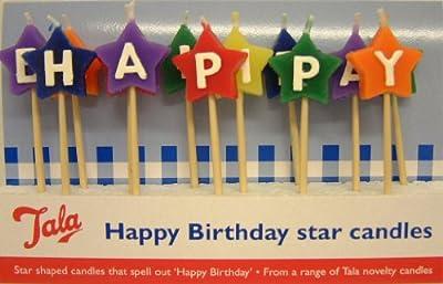 13 Pc Piece Happy Birthday Star Candles Cocktail Sticks by Tala