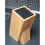 Hevea Wood Block Universal Knife Holder - Ideal for ceramics