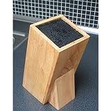 Hevea Wood Block Universal Knife Holder - Ideal for ceramics