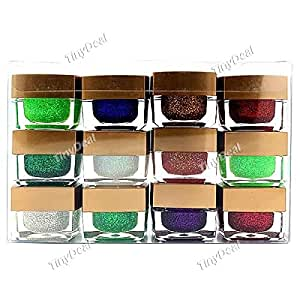 12-color Professional Square Glitter Nail Art Nail UV Gel Nail Cosmetic Item for Lady Women BBI-321592