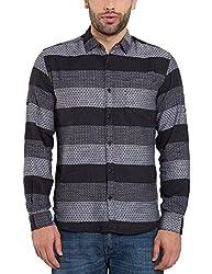 Locomotive Men's Casual Shirt (15110001471522_LMSH010658_M_Black)