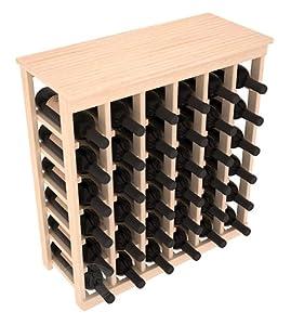 Kitchen Wine Rack 36 Bottle in Pine