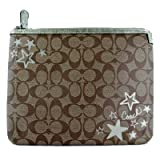 Coach Heritage Star Tablet Padded Sleeve/iPad Sleeve Khaki and Metalic