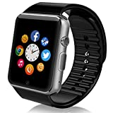 Smart-watch Sweatproof Smart Watch Phone /bluetooth 4.0/Easy connection/ Make calls/Support SIM/TF for Apple Iphone 5s/6/6s and 4.2 Android or Above SmartPhones by starrybay (BB-Black)