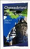 echange, troc Chateaubriand (de) R - Memoires d'outre-tombe première partie  livres I a V