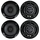 4) New Kenwood KFC-1665S 6.5 600 Watt 2-Way Car Audio Coaxial Speakers Stereo