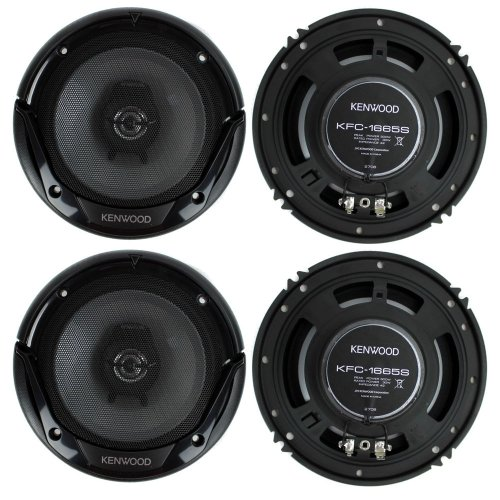 "4) New Kenwood Kfc-1665S 6.5"" 600 Watt 2-Way Car Audio Coaxial Speakers Stereo"