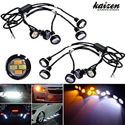 See Kaizen Eagle Eye Dual-Color DRL Backup/Turn Signal Lights Switchback Flexible LED Kit Universal Fit For Most Car,SUV,Truck Or Motorcycles Color Temperature 6000K/3000K Color White/Amber(Yellow) Details
