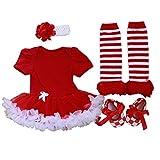 ZAMME Beb?? reci??n nacido venda + Romper + Calcetines + Zapatos Set Outfit ropa 4pcs