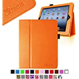 Fintie Folio Case for iPad 4th Generation with Retina Display, the New iPad 3 & iPad 2 Slim Fit Stand Smart Cover with Auto Sleep / Wake Feature - Orange