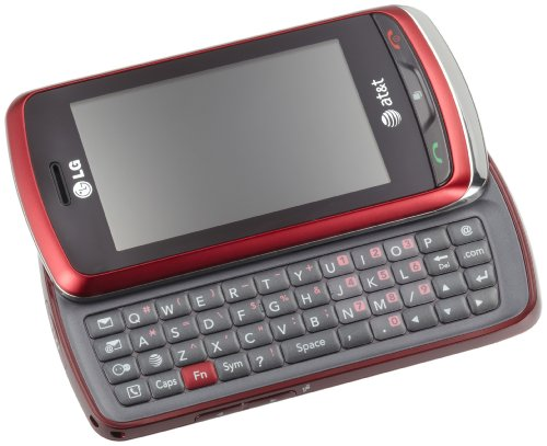 lg slide phone. 3g-powered smartphone in red with 2.8-inch touchscreen and slide-out qwerty keyboard; customizable intuitive user interface lg slide phone
