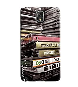 Omnam Collection Of Cassettes Printed Designer Back Cover Case For Samsung Galaxy Note 3