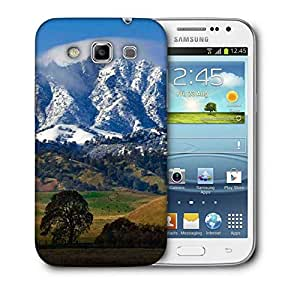 Snoogg White Mountain Top Printed Protective Phone Back Case Cover For Samsung Galaxy Samsung Galaxy Win I8550 / S IIIIII