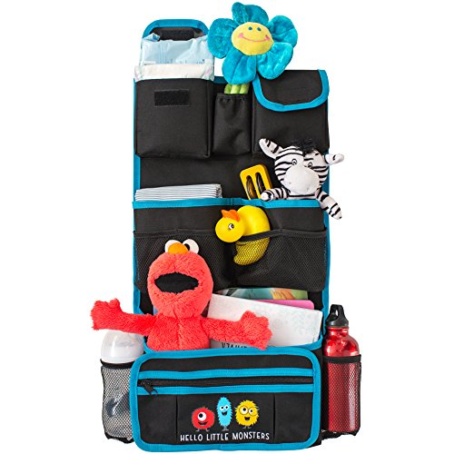 Best Prices! Backseat Car Organizer by Hello Little Monsters - Kids Toy Car Storage - Travel Accesso...