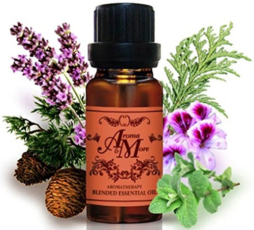 Happy : A Pleasant aroma blend of Geranium, Lavender, Cypress, Cedarwood and Peppermint Pure Essential Oil 100% 30 ml (1 Fl Oz)-Health (Hot Box For Bed Bugs compare prices)