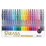ゼブラ 水性ボールペン サラサクリップ 0.5 20色 JJ15-20CA