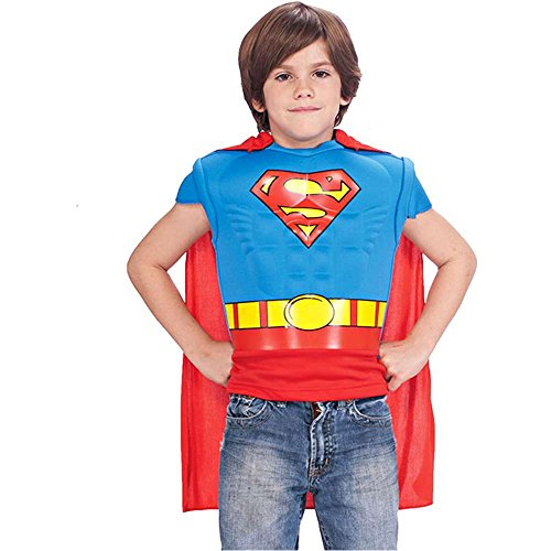 Superman Muscle Chest Shirt Kids Costume