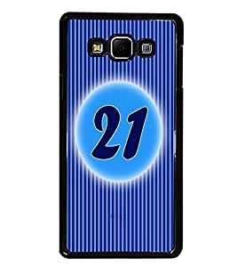 PrintDhaba Numerology Number 21 D-2579 Back Case Cover for SAMSUNG GALAXY E7 (Multi-Coloured)