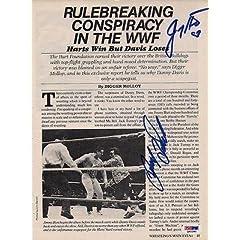 Jimmy Hart & The British Bulldog Davey Boy Smith Signed 8x10 Photo COA - PSA DNA...