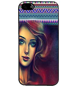 PrintDhaba Beautiful Girl D-5079 Back Case Cover for APPLE IPHONE 4S (Multi-Coloured)