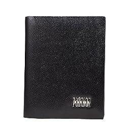 Pabojoe New 100% Leather Business Credit Card Holder (black)